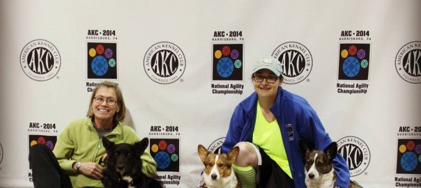 Taryn and Jo at the National Agility Championship