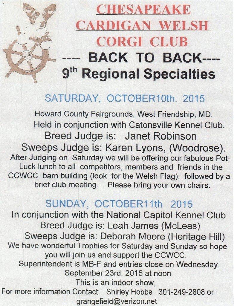 CCWCC 9th Regional Specialty