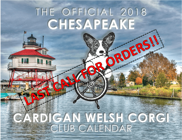 FINAL DAYS! 2018 CCWCC Calendars On Sale NOW!